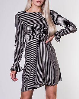 Lyra Dress Black/Stripes