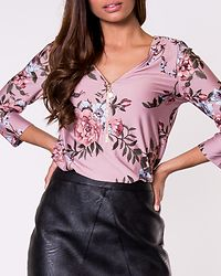 Marion Top Pink/Patterned