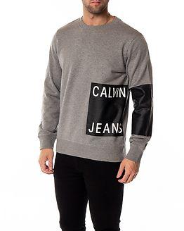 Calvin Jeans Logo Crew Neck Grey Heather
