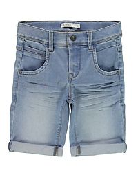 Sofus Long Shorts Light Blue Denim