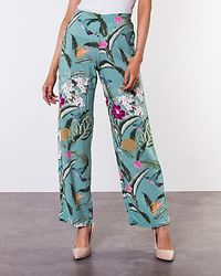 Simply Easy High Waist Wide Pant Wasabi/Tropicana