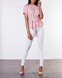 Maddie Tie Blouse Dusty Pink
