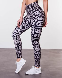 Cheetah Tights Grey/Black