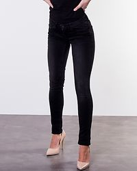 Eve Low Rise Pocket Piping Jeans Black