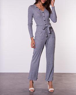 Ava Rib Jumpsuit Grey Melange