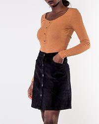 Sunny Short Corduroy Skirt Black