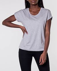 Moster Top Light Grey Melange