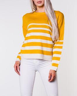 Daffy Stripe Jumper Gold/Ecru Stripe