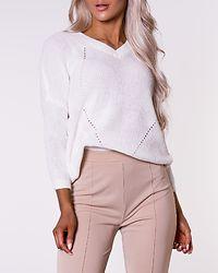 Sian 3/4 Deep V-Neck Knit Bright White