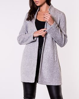 Brushedkatrine 3/4 Jacket Light Grey Melange