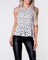 Ghita Smock Top Dotted/White/Black