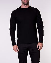Logan Bla Sweat Crew Neck Black/Regular Fit