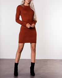 Grungy Knit Dress Ginger Bread