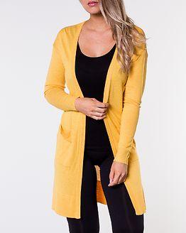 Becca Long Knit Cardigan Lemon Chrome