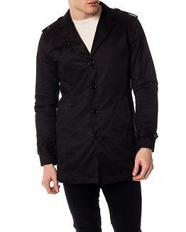 New Adams Trench Coat Black