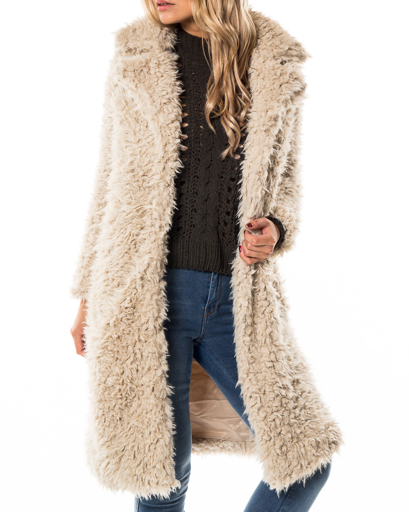 ecc9f5936 Vero Moda, Tamar Jayla Long Faux Fur Jacket Oatmeal | Jackets |  HOUSEOFBRANDON.COM