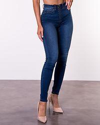 Callie High Waist Skinny Zip Jeans Medium Blue Denim
