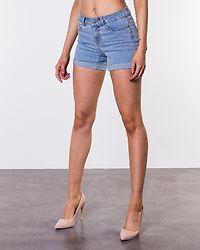 Be Lucy Fold Shorts Light Blue Denim