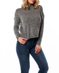 Rana O-Neck Blouse Medium Grey Melange
