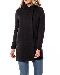 Fairy Sharon Long Wool Coat Black/Melange