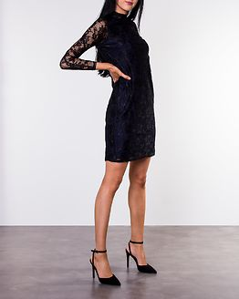 Annabel Lace Dress Black/Dark Blue
