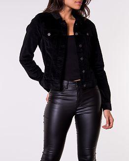 Ada Corduroy Jacket Black