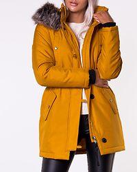 Iris Fur Winter Parka Golden Yellow