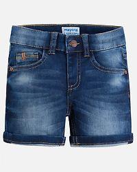 Knit Denim Shorts Dark Blue