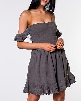 Adrianna Smocked Dress Washed Khaki