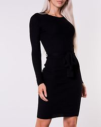 Paige Skinny Rib Dress Black