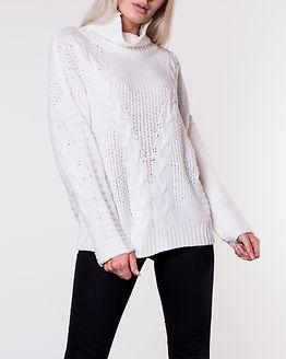 Alva Roll Neck Knit White