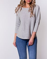 Nora Boatneck Blouse Light Grey Melange
