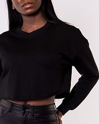 Zoey Life Cropped Sweat Black