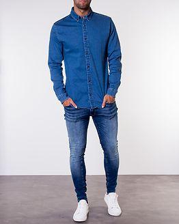 George Shirt Stretch Light Blue Denim/Super Slim