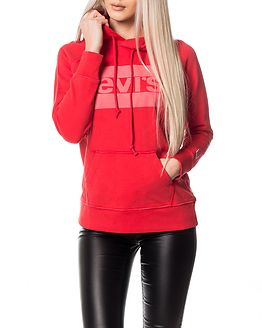 Graphic Sport Hoodie Red