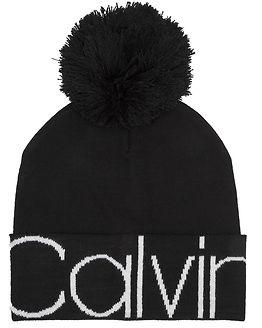 Calvin Pom Pom Beanie Black