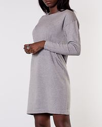 Happy Basic Zipper Dress Light Grey Melange