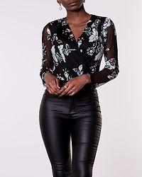 Eva Sequin Bodysuit Green/Black