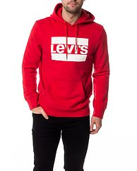 Graphic Hoodie Olympic Pull Over Red