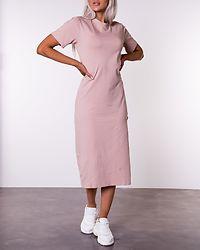Front Slit T-shirt Dress Beige