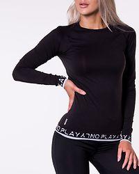 Performance Circular Long Sleeve Tee Black/Black