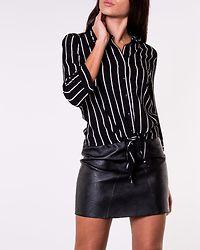 Juliette Knot Shirt Black/Striped