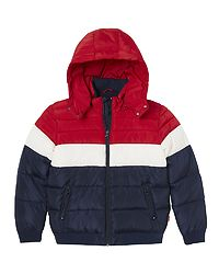 Skipuffer Jacket Peacot/White/Chinese Red