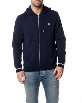 Loopback Hooded Sweat Carbon Blue