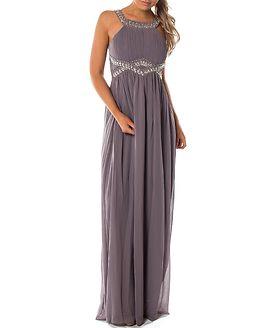 Matia Embellished Dress Blueberry Milkshake