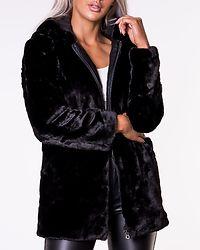 Malou Faux Fur Coat Black