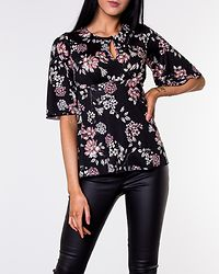 Clara Top Black/Patterned