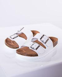 Nicoline Leather Sandal Bright White