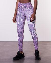 Concrete Bloom Stripe Tights Purple