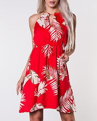 Seraphina Dress Red/Beige/Patterned